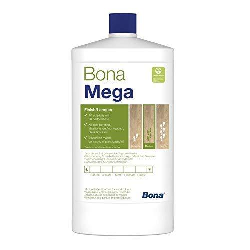Bona Mega Parkettlack - matt - 1 Liter - Versiegelung, 1 K Parkettlack, Wasserlack