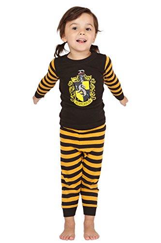 Harry Potter Hufflepuff House Crest Cotton Baby Pajama Gift Set, Hufflepuff, 6MO
