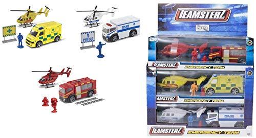 Teamsterz Helikopter-Notdienst Team Boxed Playset