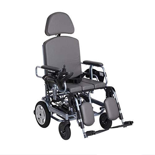 ZXMDP Elektrische rolstoel, rolstoel, aluminium, opvouwbaar, met Potty design voor mensen met een handicap