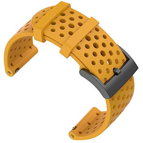 Shieranlee Compatible with Suunto 9 Spartan/Suunto 7 Correa,24MM Silicona Sport Watch Band Fitness...