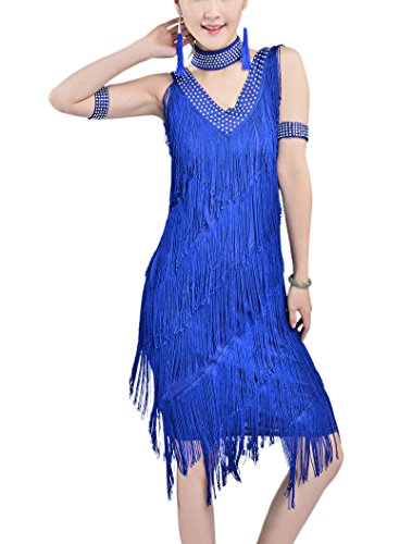 Vintage 20s Great Gatsby Themed Corporate Events Murder Mystery Parties Dresses, Royal, 8/10