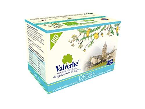 Valverbe Tisana Depura Biologico 20 Filtri - Pacco da 6 - 180 g