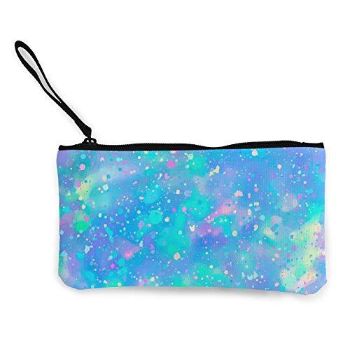 Monedero de tela con diseño de ópalo y piedras preciosas, bolso pequeño con cremallera, bolsa para teléfono móvil con asa.