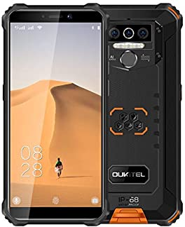 4G Teléfono Móvil Resistente 2020 OUKITEL WP5, Batería de 8000 mAh, Smartphone Impermeable IP6, 4 Luces de Flash LED, MTK6761 4GB + 32GB, 13MP + 2MP + 2MP, Android 9.0, Reconocimiento Facial Naranja