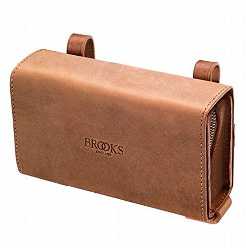 BROOKS(ブルックス) ユニークなスライド式レザー製サドルバッグ BROOKS D-SHAPED AGED DARK TAN 【日本正規品/2年間保証】