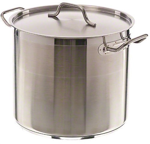 Update International SPS-20 Induction Ready Stock Pot with Cover, 20-Quart, Silver