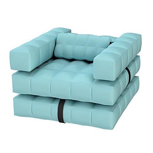 Pigro Felice Modul'Air 3-in-1 zwembad float/ligstoel opblaasbare stoel, PVC-kunststof, waterblauw, 117x117x72 cm