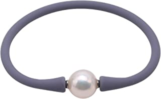 JYX Pearl Women Stretch Rope Bracelet 12-13mm Round Freshwater Pearl Bracelet 7.5in