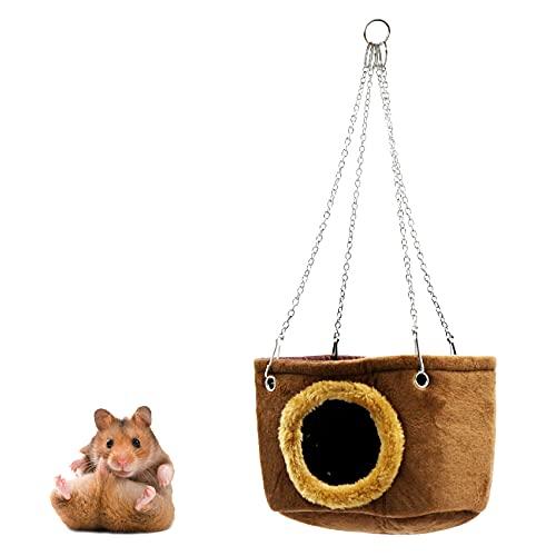 Hamaca para Mascotas, jaula colgante para animales pequeños con 4 ganchos, cálida cama colgante para animales pequeños para animales pequeños para ardillas, chinchillas y hámsters.