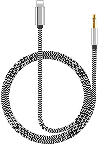 [Apple MFi Certified] AUX Cable for Car Cell Phone Audio & Video Accessories Cables & Interconnects, Lightning to 3.5mm Cord Stereo Jack 3.5 mm Audio Cables Compatible with iPhone 11 Pro Max XS/XR/8/7