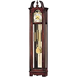 Howard Miller Nottingham Floor Clock 610-733 – Windsor Cherry Vertical Home Decor & Brass Pendulum with Quartz, Dual-Chime Movement