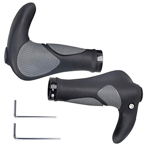 Wolfride Ergonomic Bicycle Handlebar Grips Bike Horn Grips for MTB
