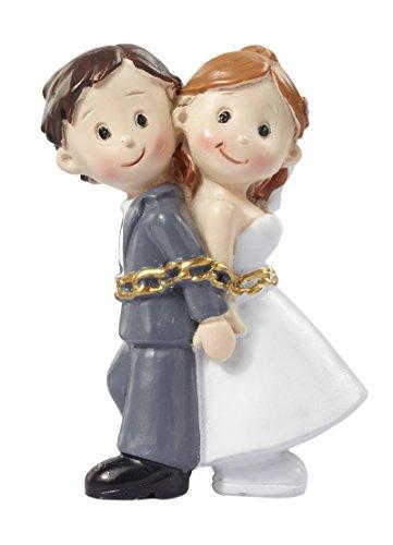 Hochzeitspaar * Brautpaar in Ketten * Hochzeit * Tortendekoration * Tortenfigur * Tischdekoration