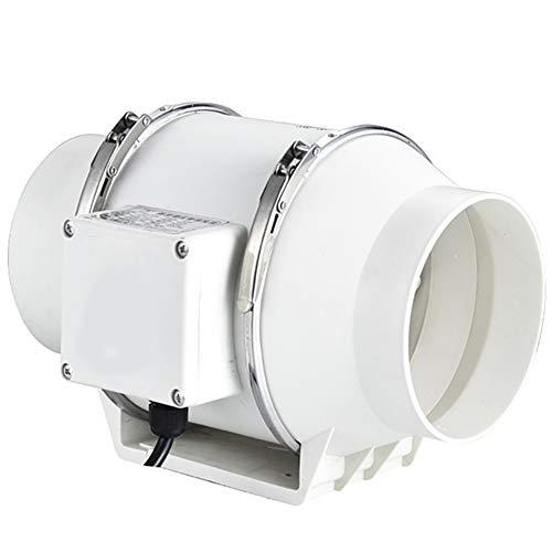 125mm Extractor en Línea con Ventilador de Conductos Silenciosos 5in Alta Eficiencia Extractor de Aire Sistema 40W 310m³/H Ventilador Extractor de Baño