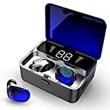Wireless Earbuds, IPX7 Bluetooth 5.0 Headphones with Mic 3D Stereo, 100H Playtime in-Ear, 2000mAh Charging Case LED Battery Display, Touch-Control, True Wireless Earbuds for iOS Android
