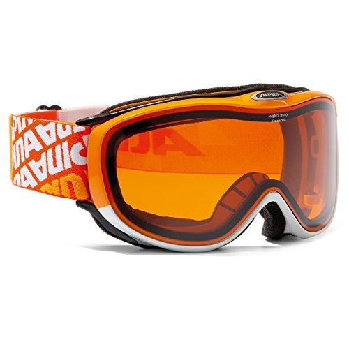 Alpina Freespirit 2.0 HYBRID mirror Skibrille für Brillenträger orange