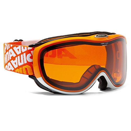 Alpina Freespirit 2.0 HYBRID mirror Skibrille für Brillenträger orange