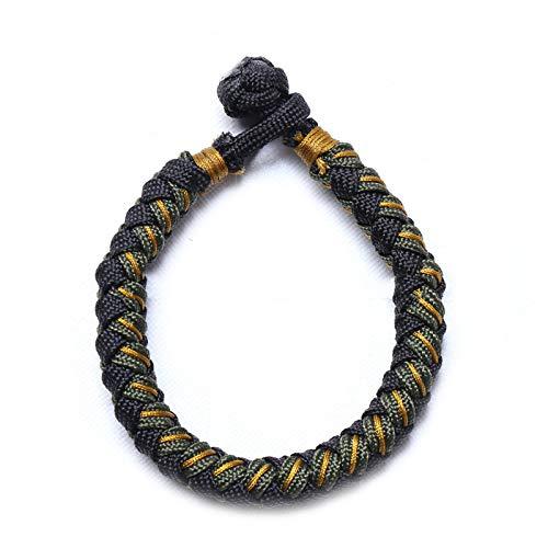 Maxte Pulseras de cuerda tibetana hechas a mano, ajustables y tejidas a mano, ideales para hombres y mujeres.