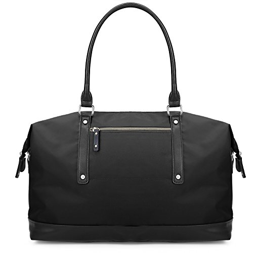 ECOSUSI Duffel Bag Weekender Overnight Bag Travel Tote for Men & Women, Black