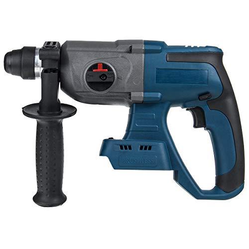 WYZ Set de Destornillador de Taladro eléctrico, Martillo de Martillo eléctrico sin escobillas de 18V, Taladro de Taladro for Makita (Color : Azul)