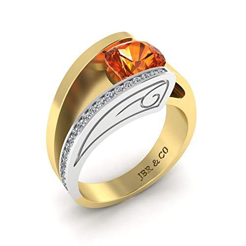 Jbr - Juego de anillos de plata de ley con corte de cojín sintético para mujer, novia, esposa, compromiso, boda, aniversario, promesa o cumpleaños, con caja de joyería