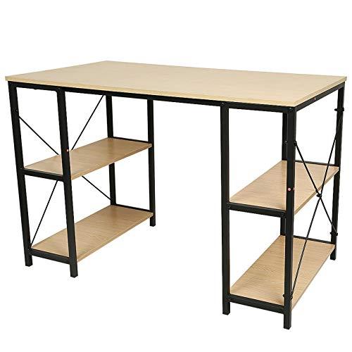 Schreibtisch, computertisch, 110 * 60 * 75 cm, Spanplatte + Stahlrohr, mit Ablagefläche (JE278238)