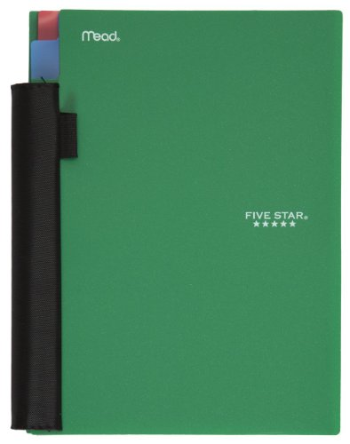 "Five Star Advance Spiral Notebook, 2 Subject, College Ruled Paper, 100 Sheets, 9-1/2"" x 6"" Sheet Size, Green (72829)"
