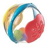 Playgro Bade-Rasselball, Ab 6 Monate, BPA-frei, Durchmesser: 10 cm, Bath Ball, Gelb/Blau/Rot, 40104