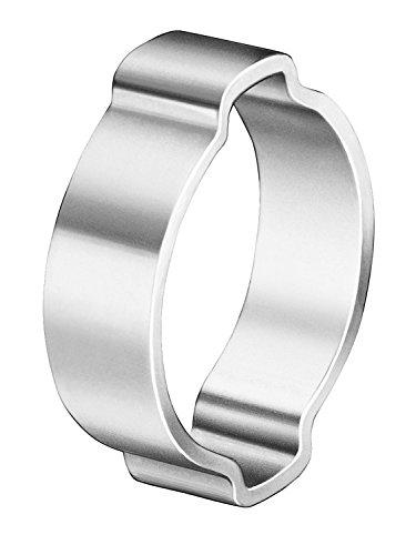 Oetiker 10100029 Zinc-Plated Steel Hose Clamp, Double Ear, 0.354