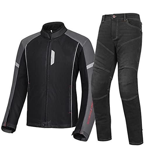 Pokem&Hent Chaqueta de Moto Chaqueta de Moto Transpirable Ropa de Motocross para Montar