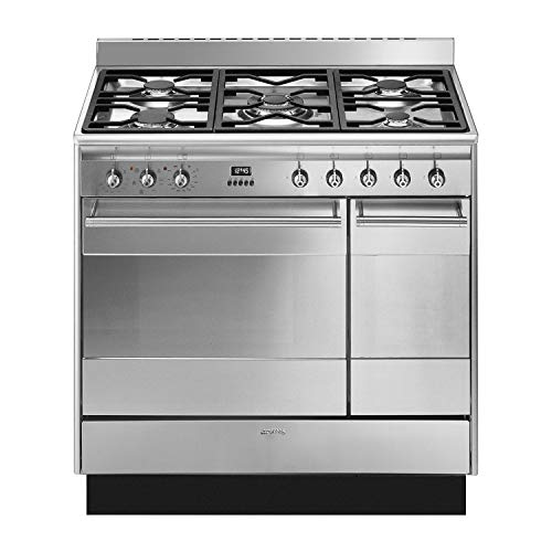 Smeg Concert SUK92MX9-1 90cm Dual Fuel Range Cooker - Stainless Steel - A/A Rated