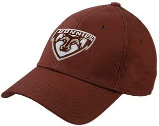 St Bonaventure Brown Heavyweight Twill Pro Style Hat 'Bonnies Shield'