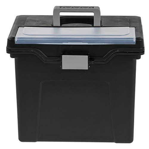 Office Depot Large Mobile File Box, Letter Size, 11 5/8in.H x 13 3/8in.W x 10in.D, Black/Silver, 110987 Photo #4