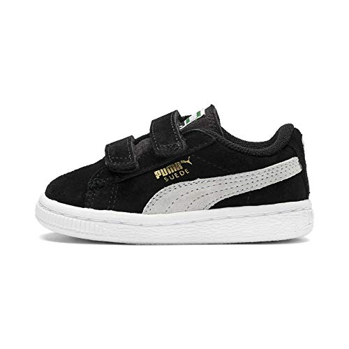Puma Unisex-Kinder Suede 2 Straps Inf Sneaker, Schwarz, 20 EU