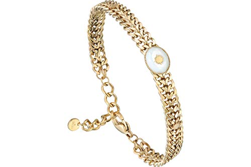 IKITA Stella chain bracelet, gold plating, mother of pearl