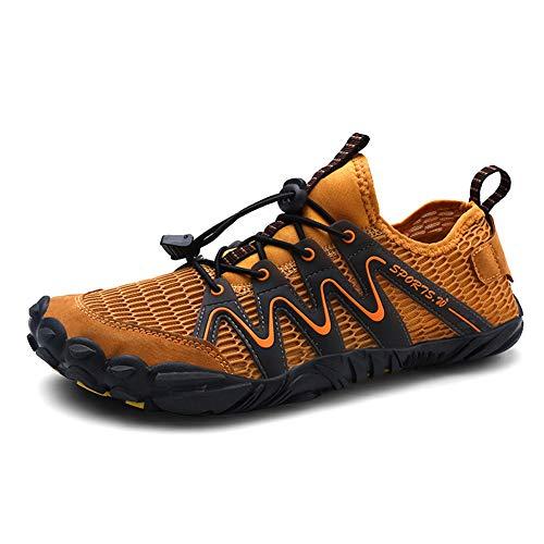 Parcclle 1718 - Zapatillas de playa para hombre y mujer, secado rápido, para surf, natación, descalzo, color Marrón, talla 40 EU