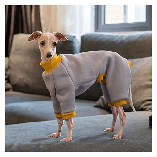 REW Hundepullover aus Fleece, für den Winter, italienischer Windhund, 4 Beine, warm, Baumwolle, Größe L