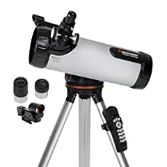 Computerized automatic telescope: The Celestron 114LCM Computerized Newtonian Telescope with all glass optics can automatically locate 4,000 celestial objects with its GoTo mount and hand control, using star locating technology found on more advanced...