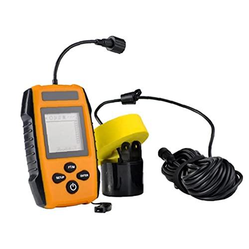 WFIT Buscador De Peces Portátil De Mano del Barco De Pesca con Conexión De Cable del Transductor del Sensor del Sonar Inteligente Sonda para La Detección Fish Depth