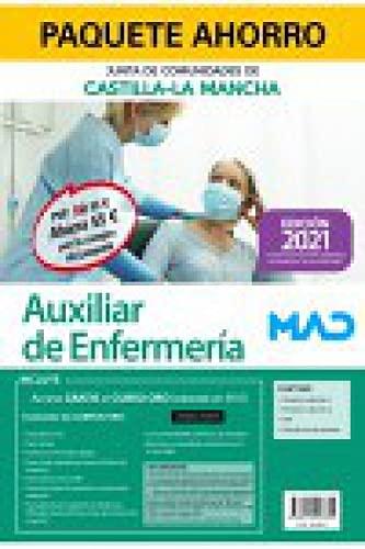 Paquete Ahorro Auxiliar de Enfermería de la Junta de Comunidades de Castilla-La Mancha. Ahorra 55 € (incluye Temarios 1 y 2; Test; Simulacros de examen y acceso gratis a Curso Oro)