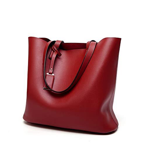 Borsa da donna Moda Wild Handbag Casual Moda Microfibra Pelle Borsa a Tracolla Donna, Rosso (Rosso) - aso-1326