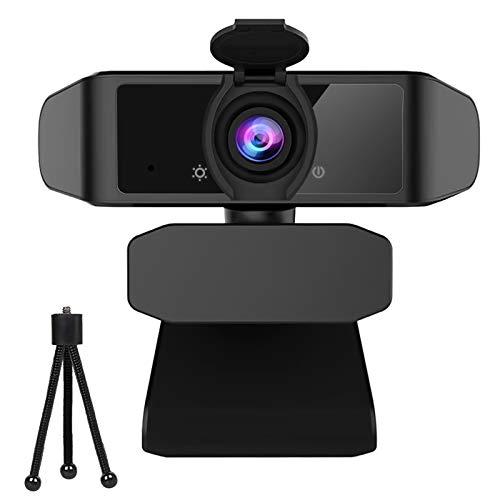 Datarm Webcam 1080P Full HD per PC con Microfono a cancellazione di Rumore, Videocamera per PC Desktop Laptop TV, USB Plug And Play per Lezioni Lavoro Online Conferenze Skype Zoom