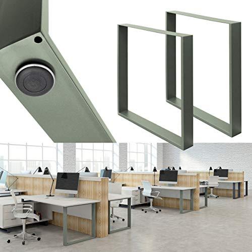ECD Germany 2x Set Patas de Mesa 60x72 cm Perfiles de Acero...
