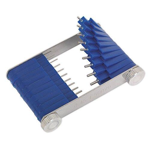 Sealey CJT01 Attrezzo Getto carburatore, 0,45-1,5 mm, Confezione da 20