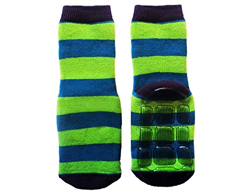 Weri Spezials Baby- & Kinder Voll-ABS Socken 'Ringel', Größe:18/19, Farbe:Kiwi