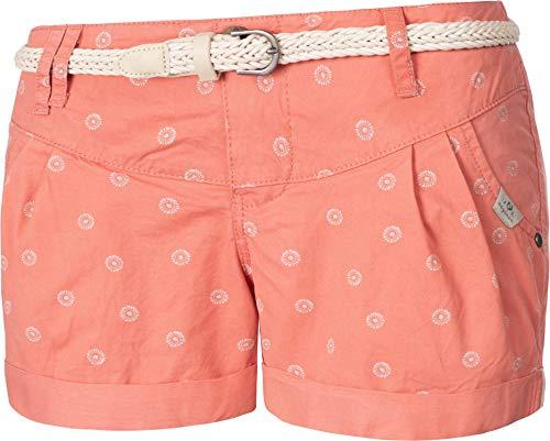 Ragwear Damen Kurze Hose Bermuda Shorts Hotpants Sommerhose Heaven Organic Rot Gr. 26