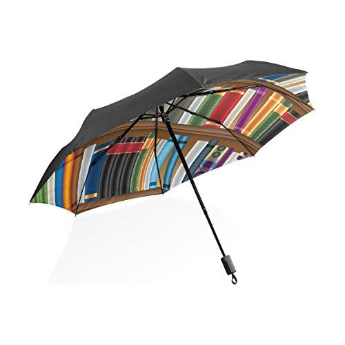 DEZIRO bibliotheek planken met oude boeken foto buiten?Paraplu voor zowel zon en regen waterdicht