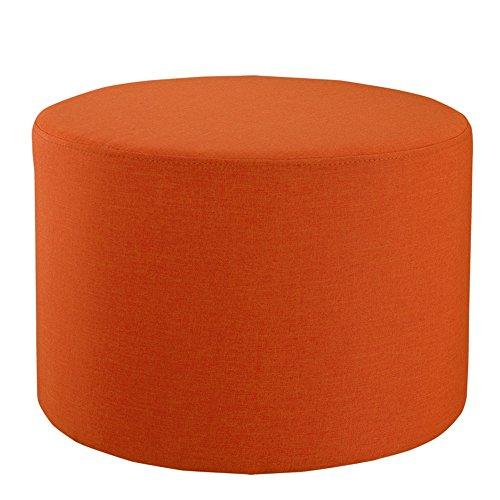 FEIFEI Tabouret en bois massif et tissu tabouret à la maison moderne Tabouret de chaussure de mode canapé créatif tabouret tabouret pour enfants (Couleur : Orange)