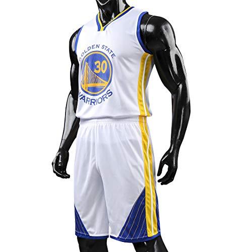 Herren Erwachsene Basketball Trikots Curry # 30 Basketball Shirt Weste Top Sommer Shorts Jersey Jersey Kits